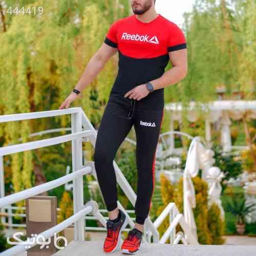 ست تیشرت وشلوار مردانه Reebok مدل Lanta  مشکی 99 2020