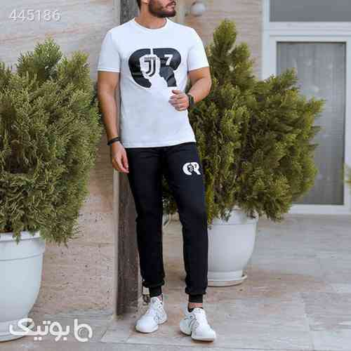 ست تیشرت و شلوارمردانه Cr7 مدل Juventus مشکی 99 2020