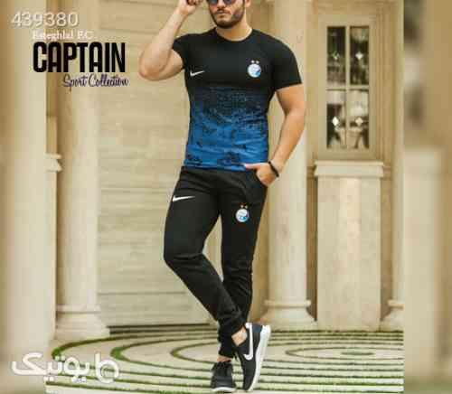 ست تیشرت و شلوار استقلال مدل Captain آبی 99 2020