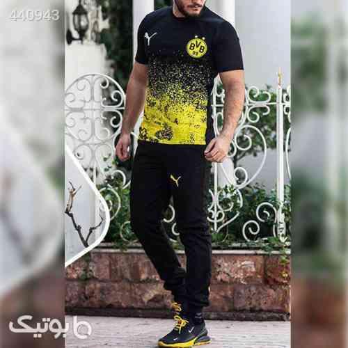 ست تیشرت و شلوار مدل Dortmund زرد 99 2020