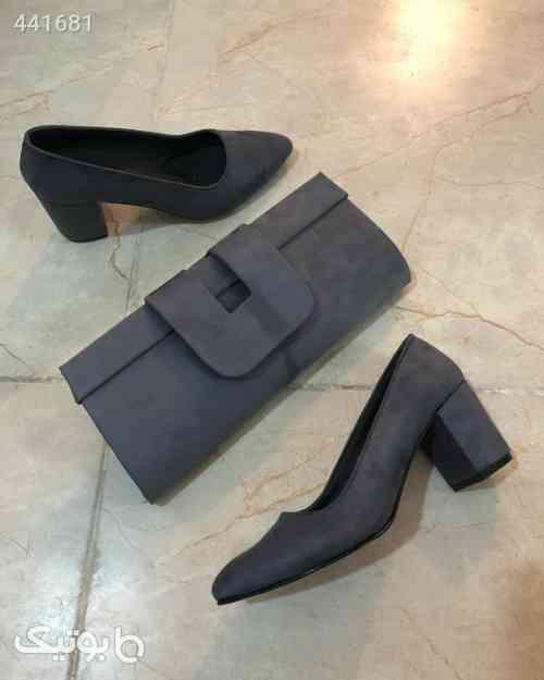 ست کیف و کفش زنانه طوسی 99 2020