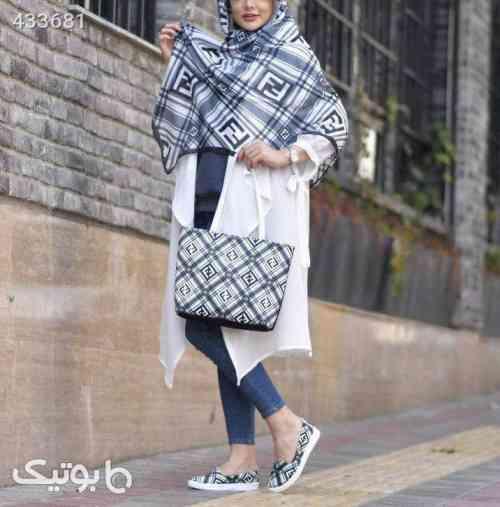 ست کیف و کفش و روسری MERSANA آبی 99 2020