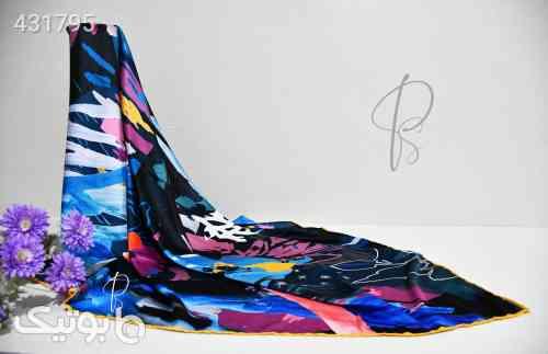 روسری نخ و ابریشم آبی 99 2020