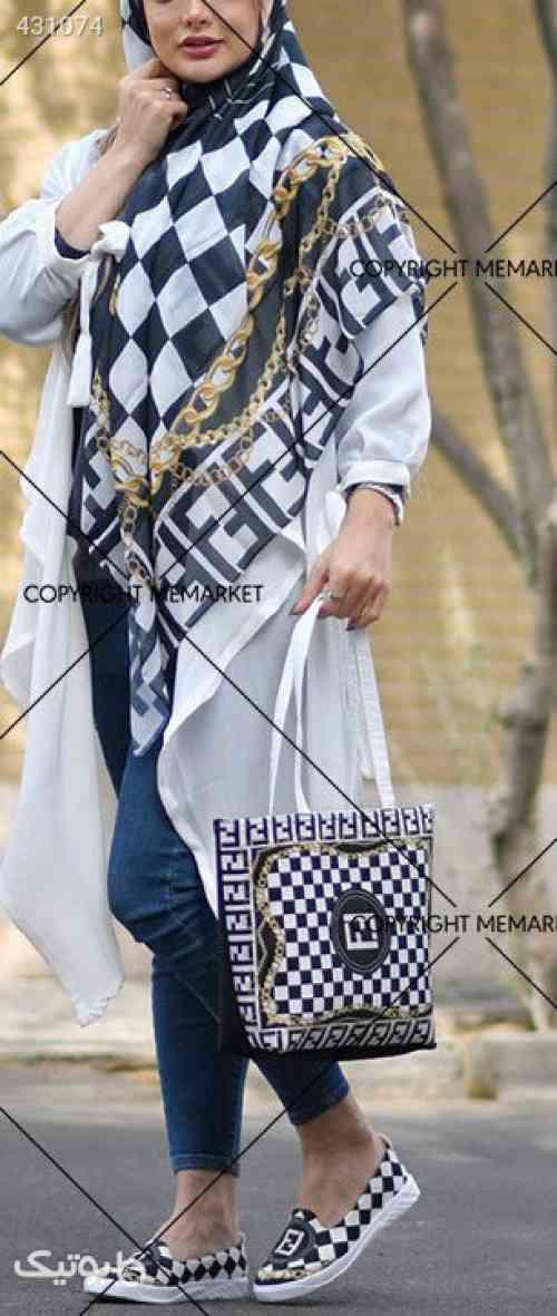 ست دخترانه کیف و کفش و روسریgelare - شال و روسری