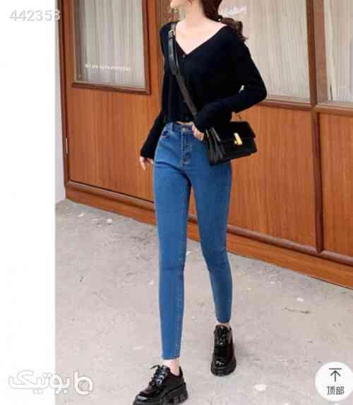 شلوار جین دخترانه  آبی 99 2020