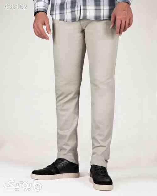 شلوار کتان مردانه ساده راسته - خاکستری محو طوسی 99 2020