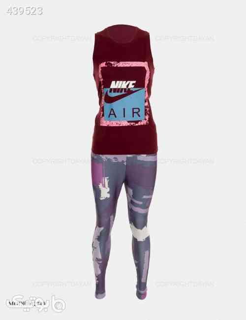 ست تاپ و شلوار زنانه Nike مدل 12749  بنفش 99 2020