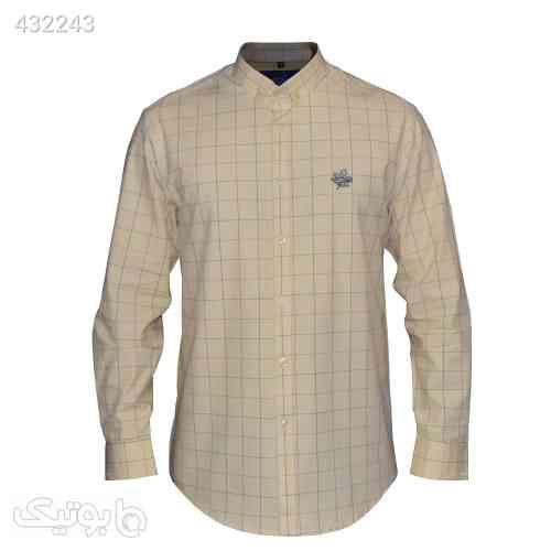 پیراهن مردانه چهارخانه کد 1901513 زرد 99 2020
