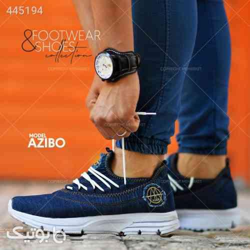 كفش مردانه طرح جين AZIBO آبی 99 2020
