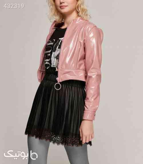 ژاکت کت کوتاه زیپدار صورتی روشن ورنی زنانه برند Y-London کد 1586613324 صورتی 99 2020