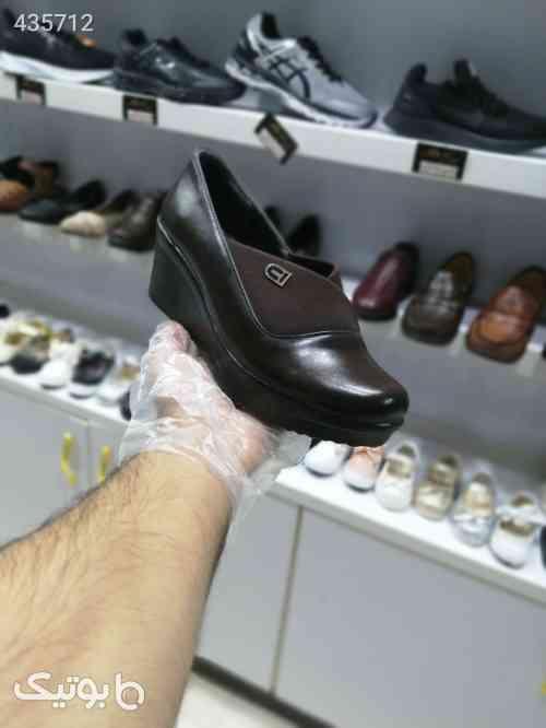 کفش زنانه طبی رویه کشی قهوه ای 99 2020