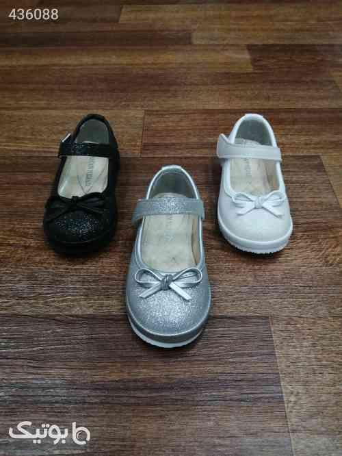 کفش دخترانه تخت اکلیلی پاپیون ریز مشکی 99 2020