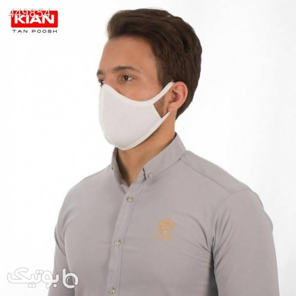 ماسک تنفسی قابل شستشوی دو لایه (پک ۵ عددی) سفید بهداشت و مراقبت بدن