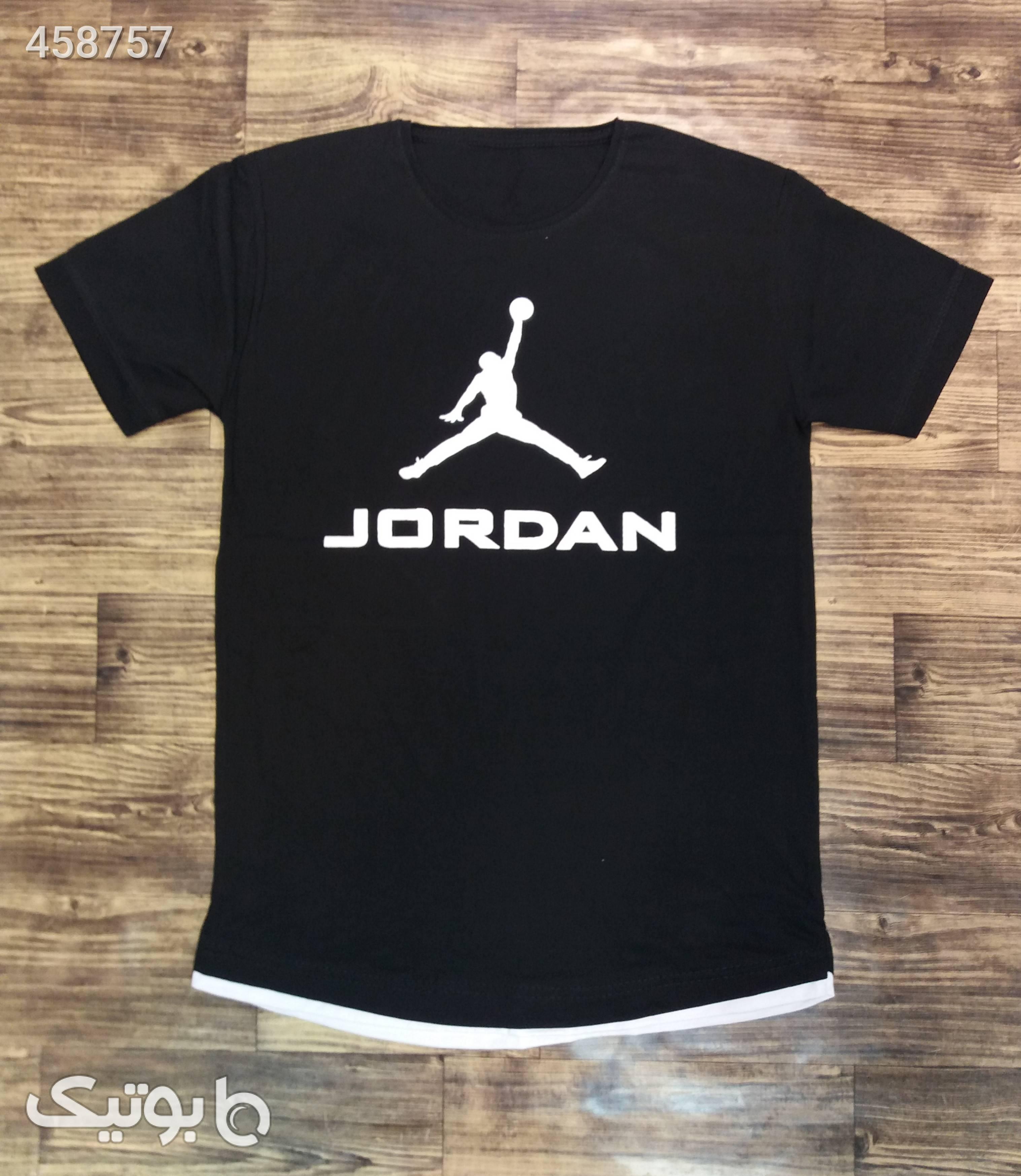 تیشرت آستین کوتاه مشکی تی شرت و پولو شرت مردانه