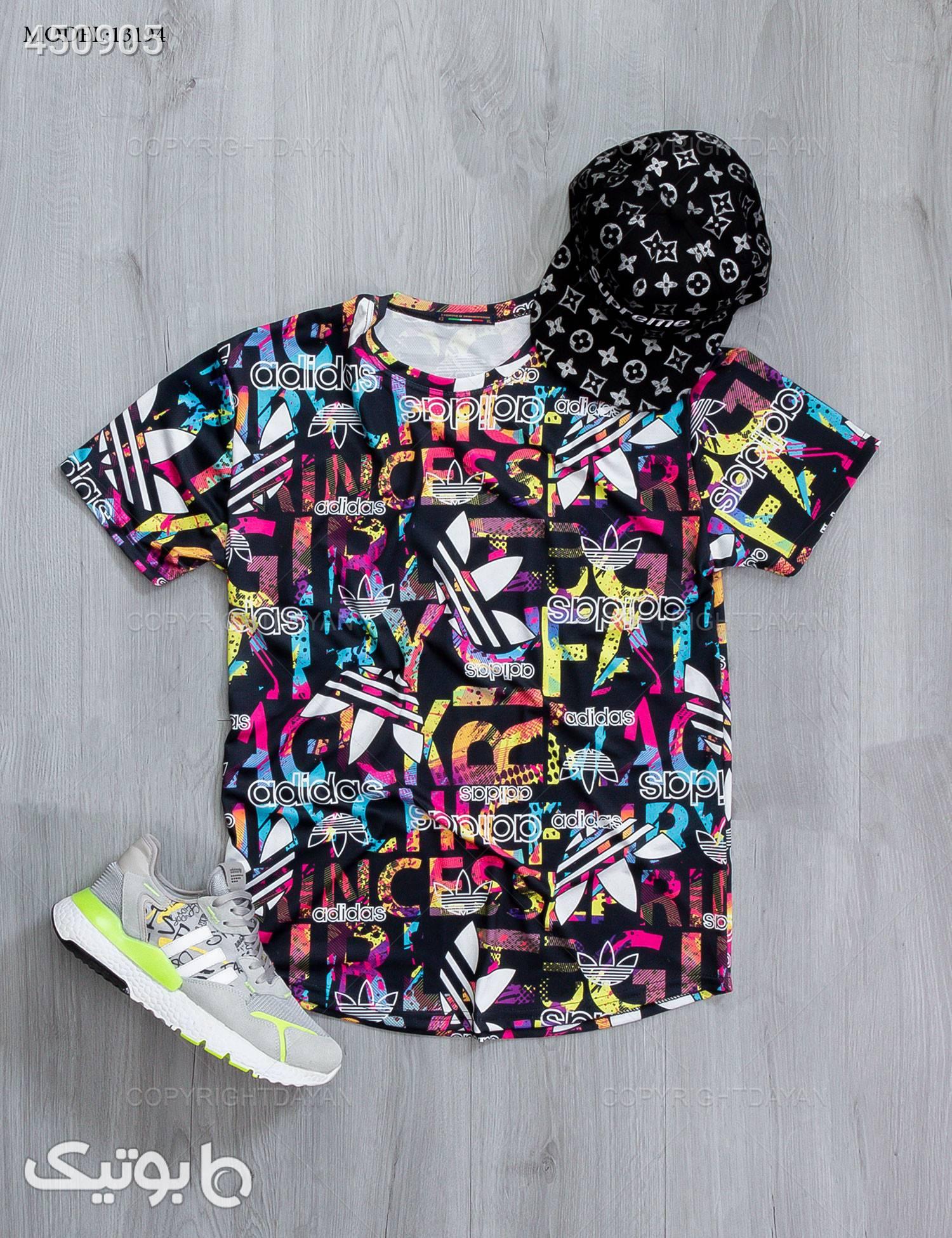 تیشرت مردانه Adidas   مدل 13194 مشکی تی شرت و پولو شرت مردانه