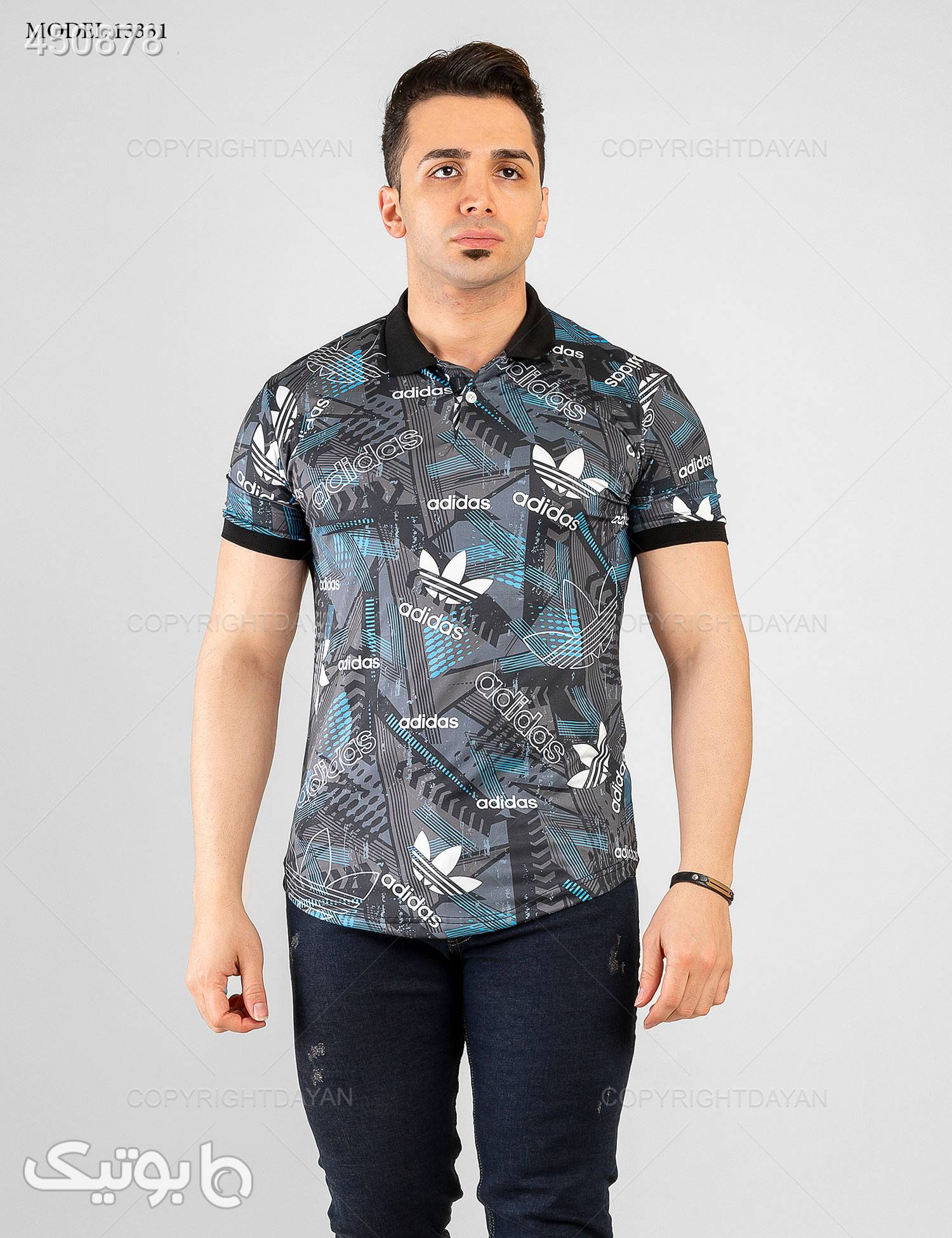 پولوشرت مردانه Adidas مدل 13331 مشکی تی شرت و پولو شرت مردانه