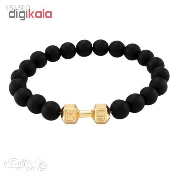 دستبند مردانه طرح دمبل کد D-Zh مشکی دستبند و پابند