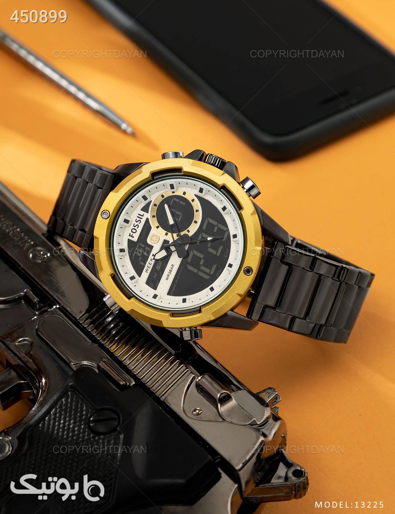 ساعت مچی مردانه Fossil مدل 13225 مشکی ساعت