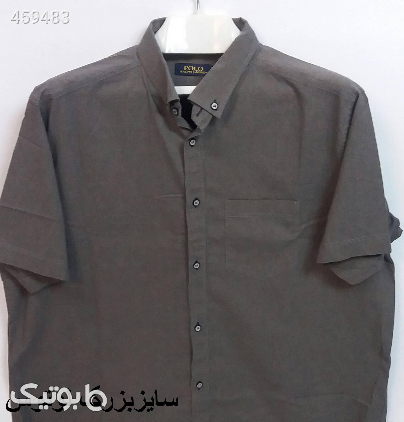 پیراهن اسپرت سایز بزرگ استین کوتاه نارنجی سایز بزرگ مردانه