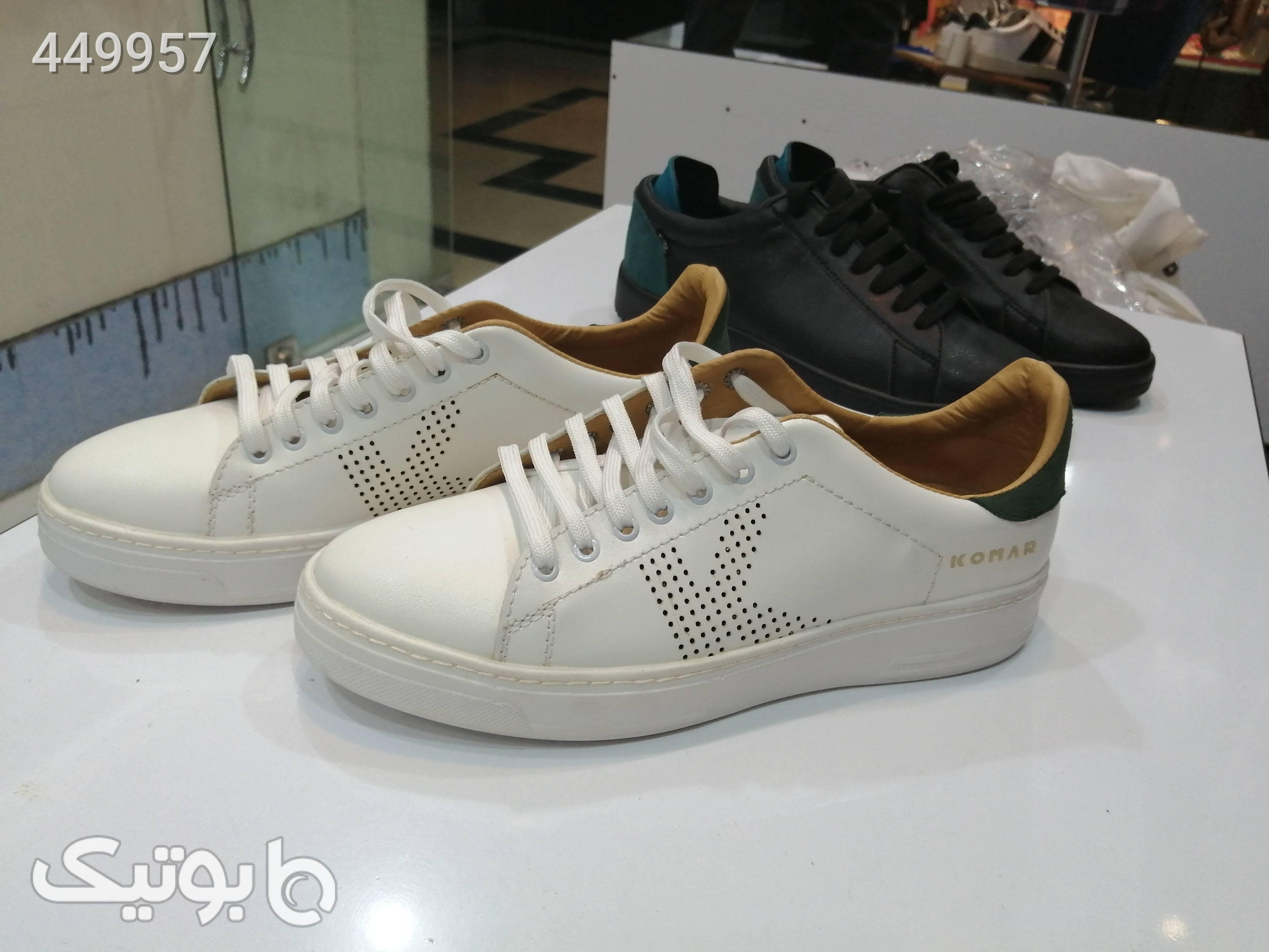 کفش کلاسیک سفید سایز بزرگ مردانه