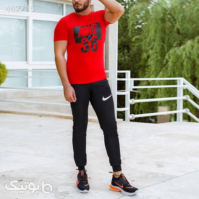 ست تیشرت وشلوارمردانه Nike  قرمز ست ورزشی مردانه