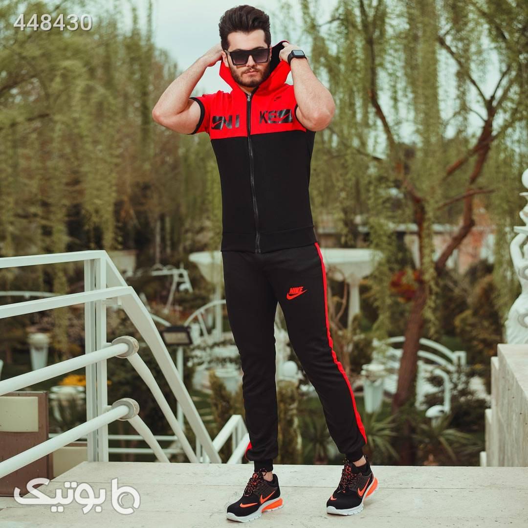 ست تیشرت و شلوار زیپ دار مردانه Nike  مشکی ست ورزشی مردانه