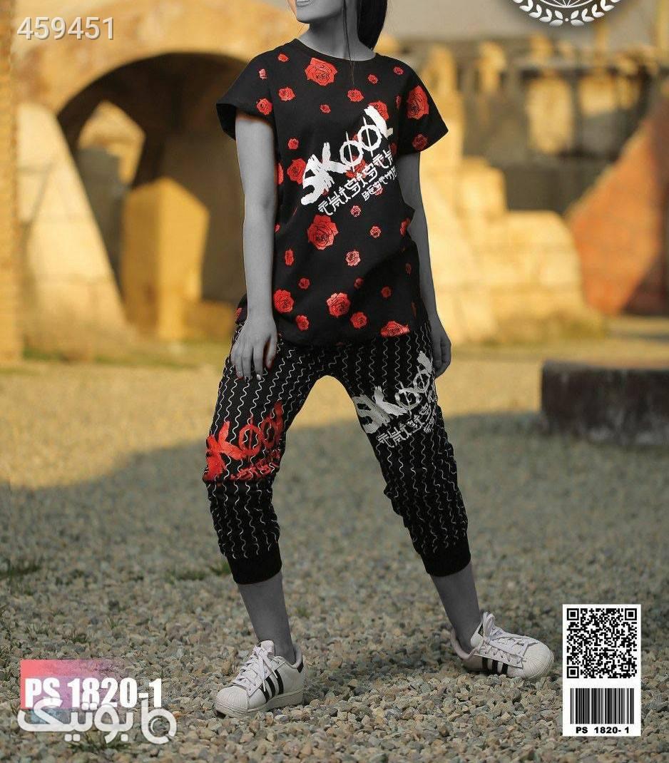 ست بلوز شلوار اسلش جیبدار جدید زنانه مشکی لباس راحتی زنانه
