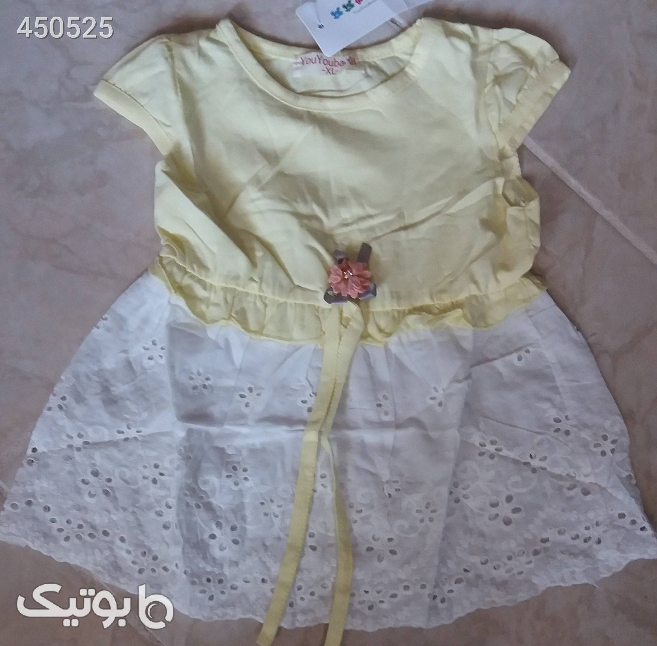 سارافون دخترانه زرد لباس کودک دخترانه