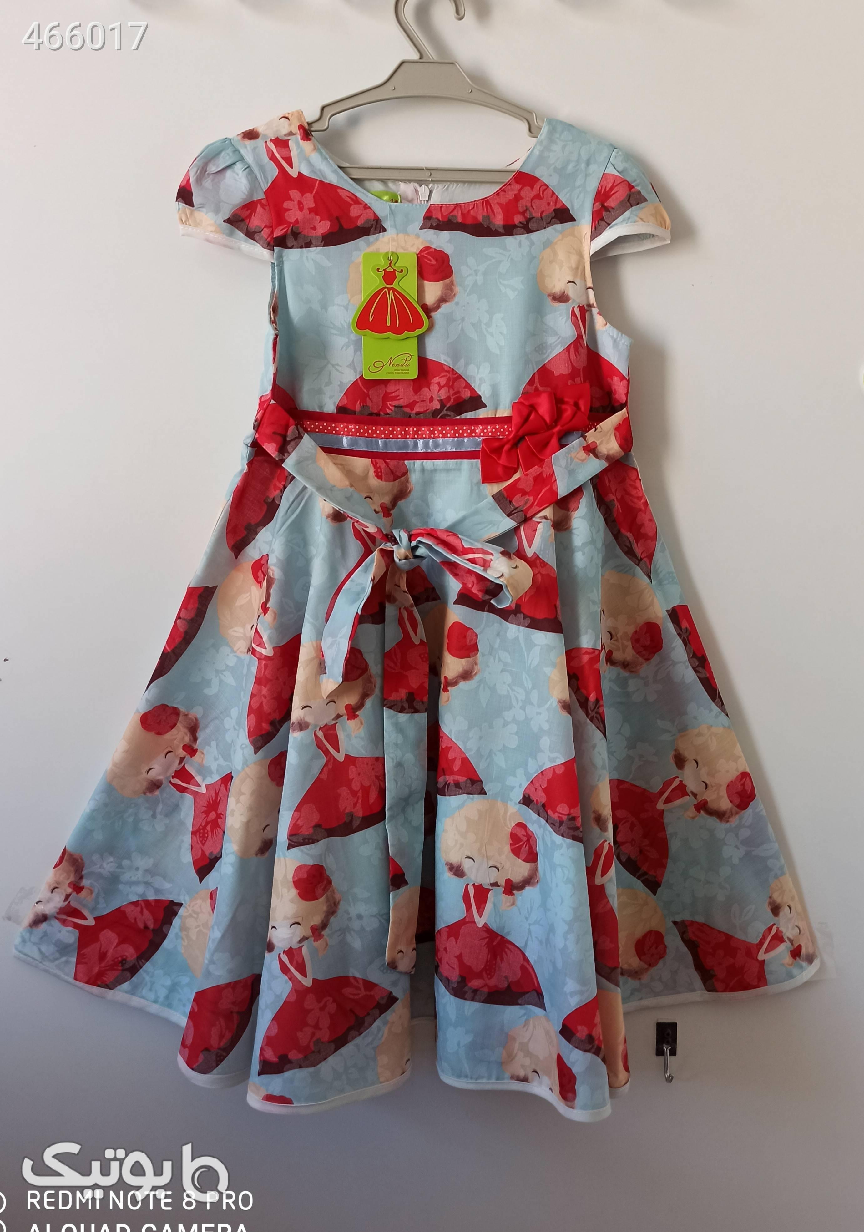 سارافون دخترانه فیروزه ای لباس کودک دخترانه
