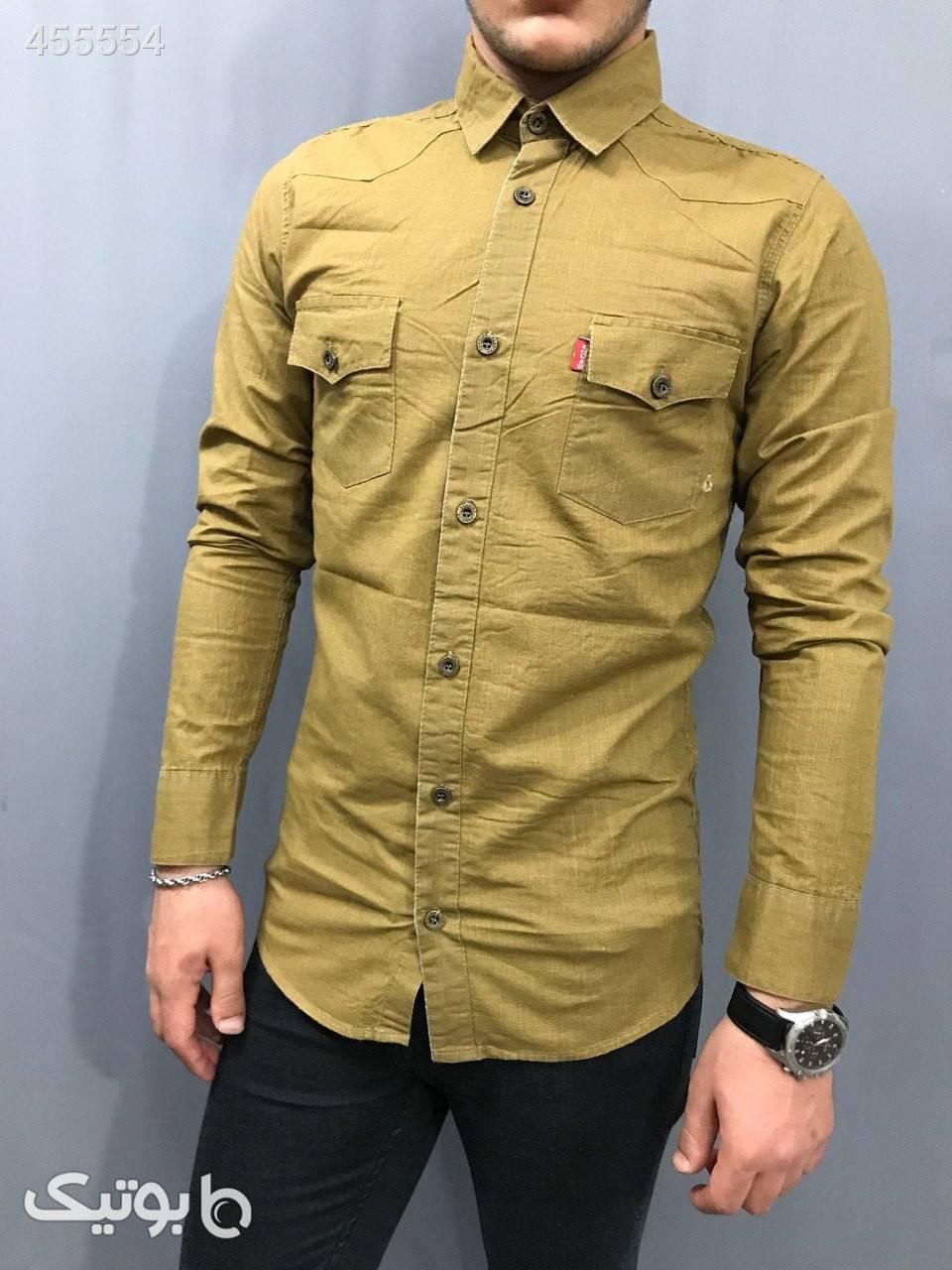 پیراهن اسلپ نازک مدل سنگشور  طوسی پيراهن مردانه