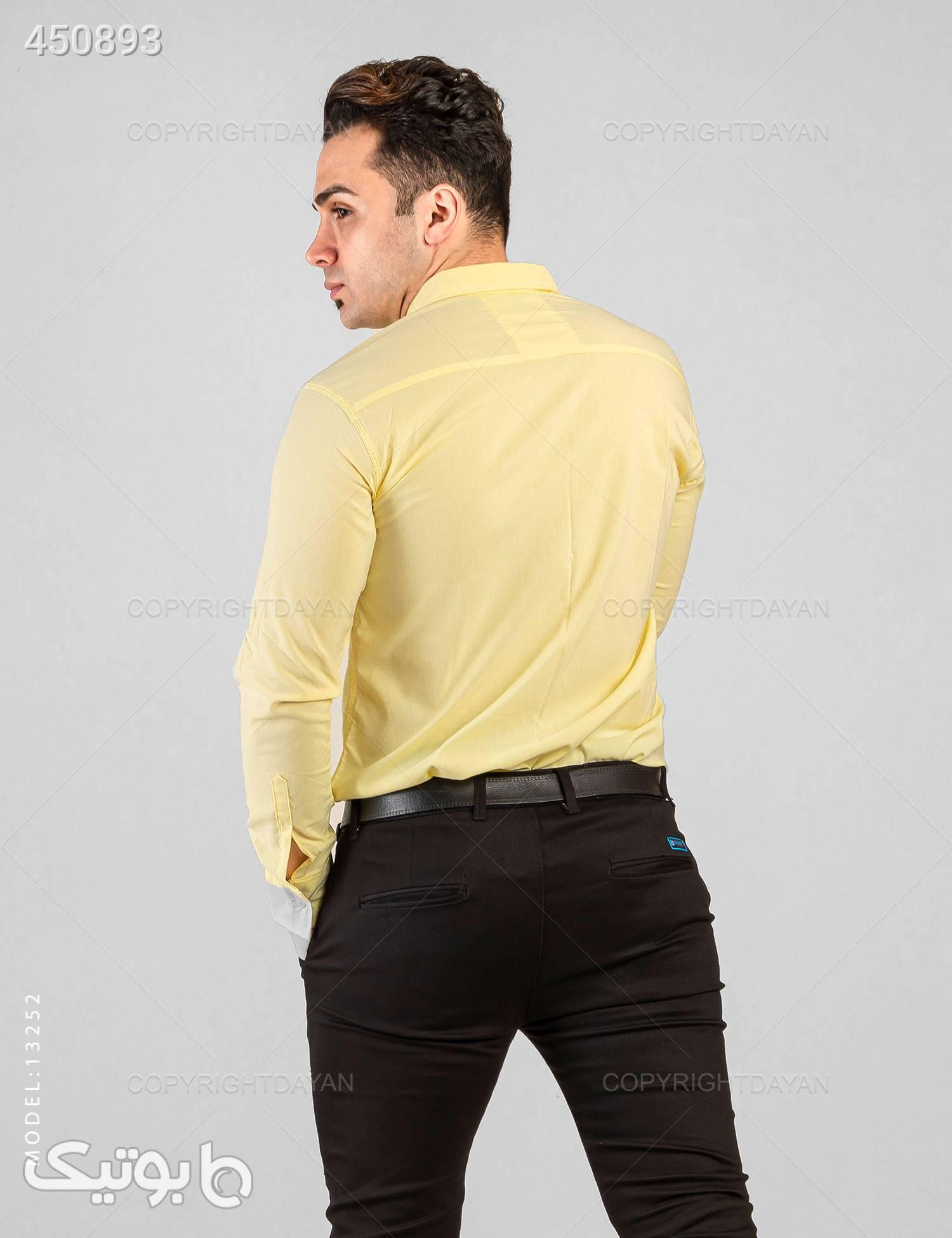 پیراهن مردانه Araz مدل 13252 زرد پيراهن مردانه