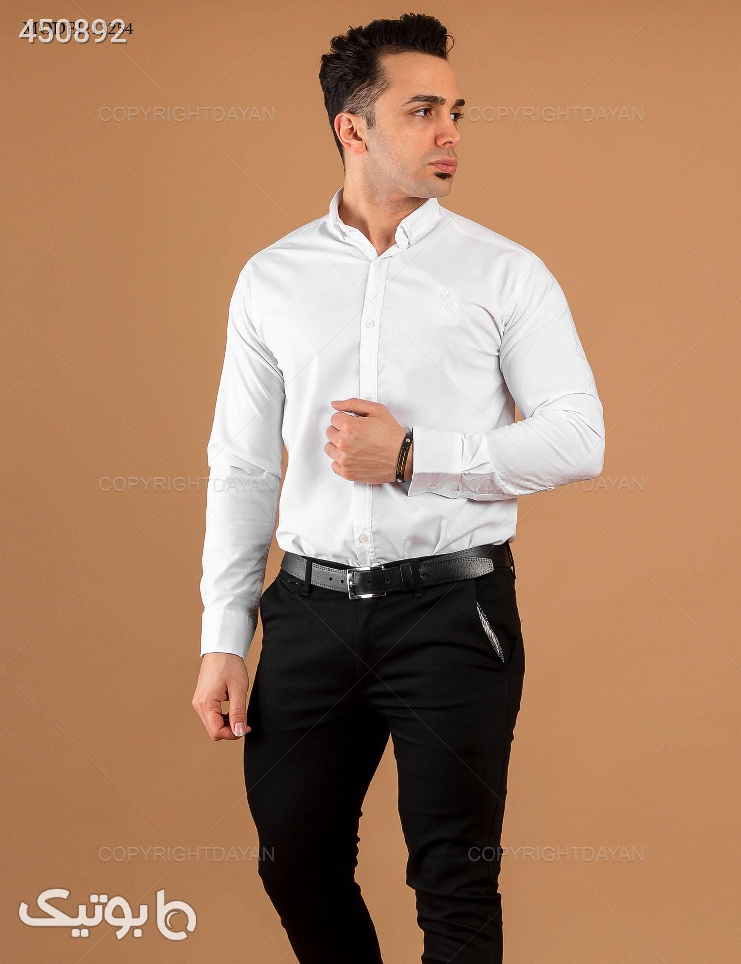 پیراهن مردانه Araz مدل 13254 سفید پيراهن مردانه