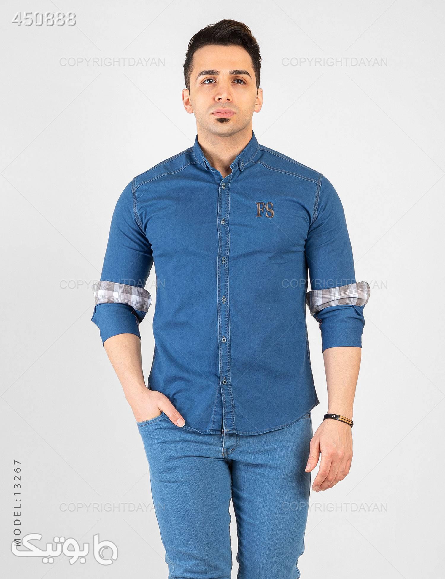 پیراهن مردانه Benson مدل 13267 آبی پيراهن مردانه