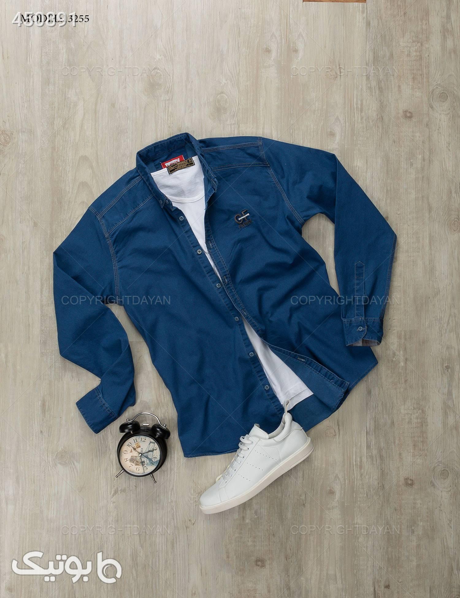 پیراهن مردانه Benson  مدل 13255 آبی پيراهن مردانه