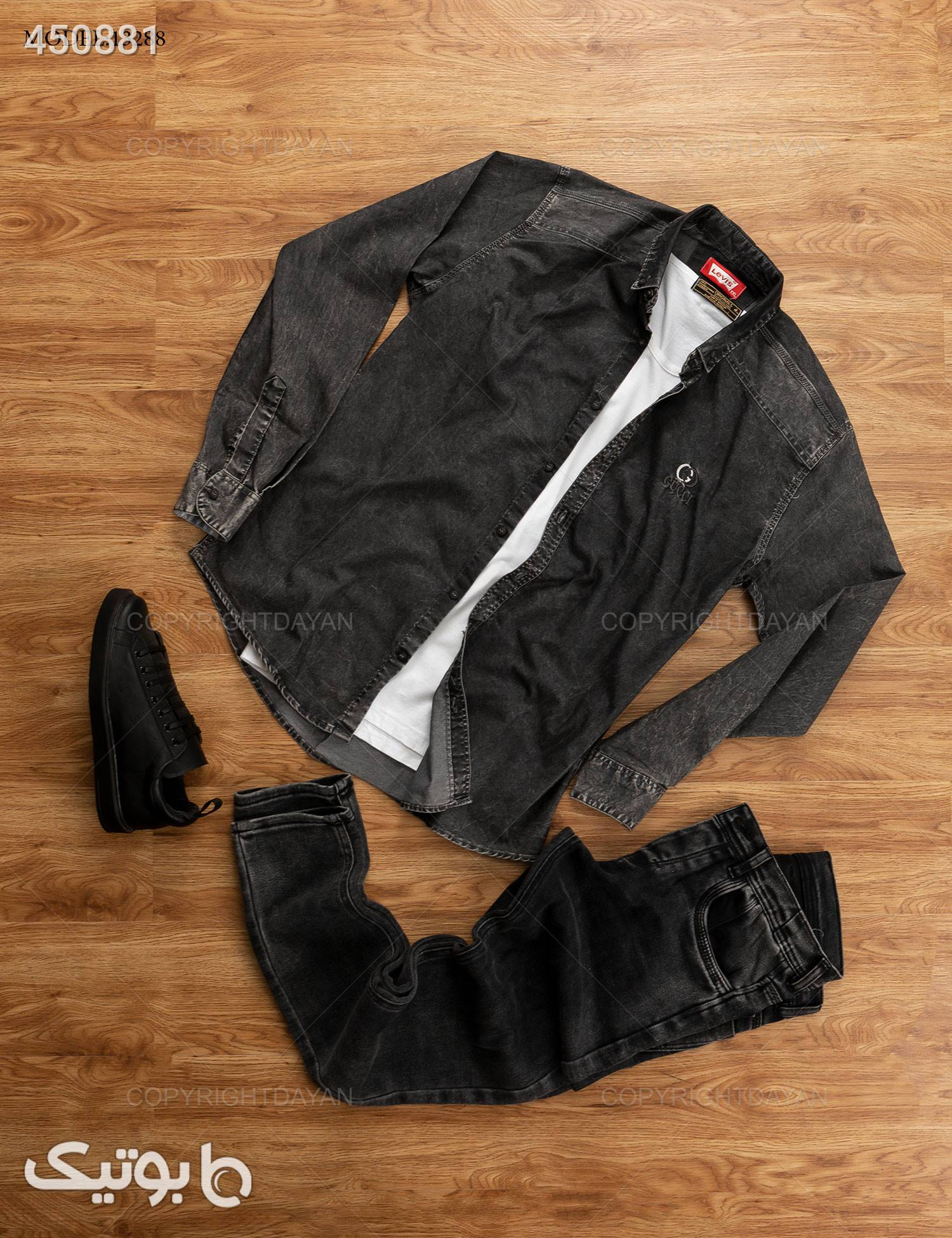 پیراهن مردانه Gucci مدل  13288 طوسی پيراهن مردانه