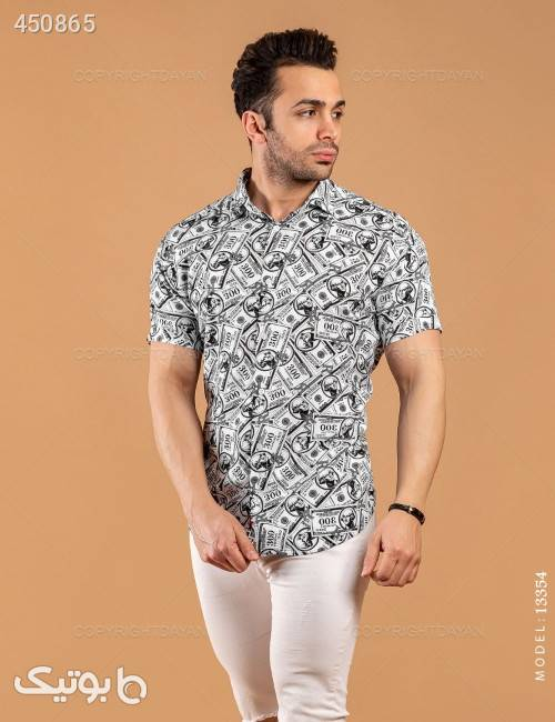 پیراهن مردانه Lima مدل 13354 سفید پيراهن مردانه
