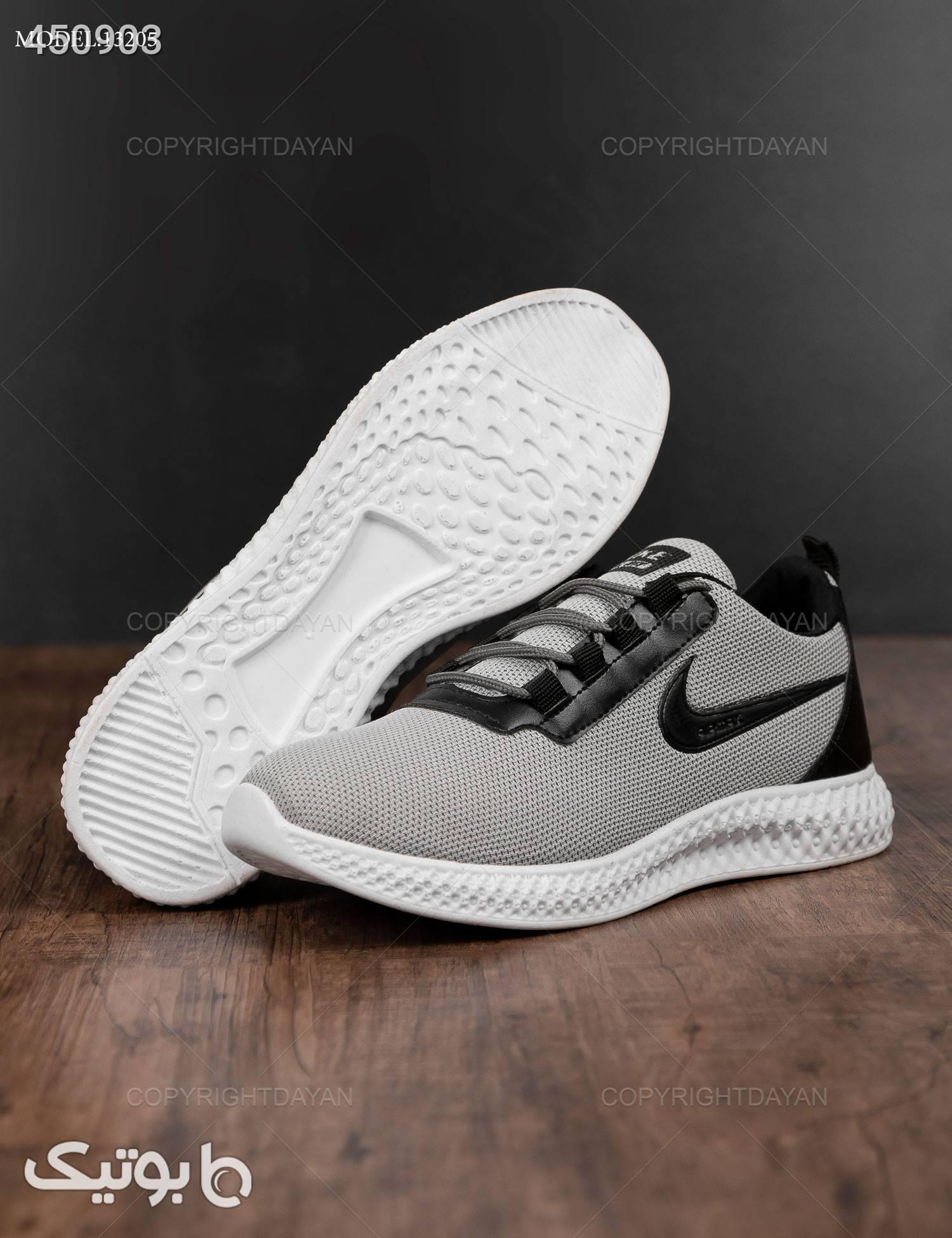 کفش مردانه  Nike مدل 13205 نقره ای كتانی مردانه