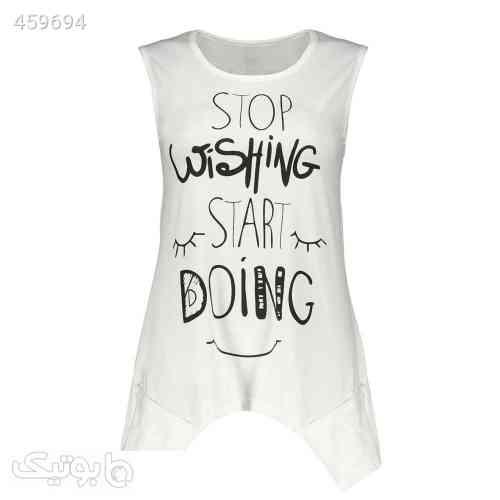 تونیک زنانه مدل Stop Wishing سفید 99 2020