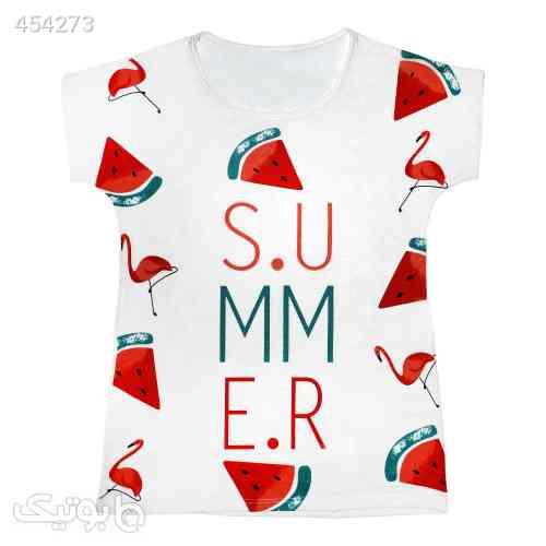 تی شرت زنانه مدل Summer Flamingo کد 1209 سفید 99 2020