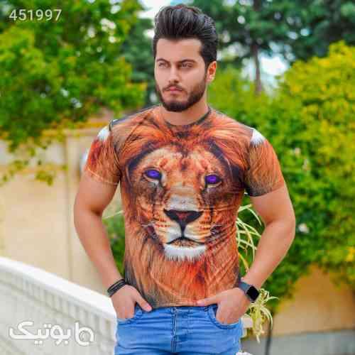 تیشرت مردانه مدل Lion نارنجی 99 2020