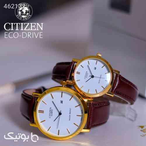 ست ساعت مردانه و زنانه citizen قهوه ای 99 2020