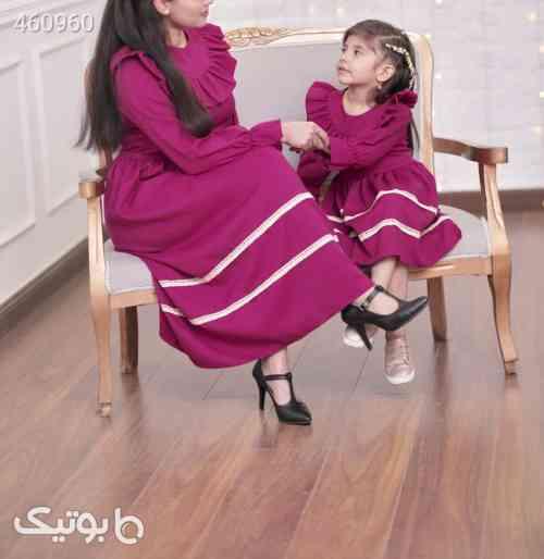 پیراهن ست مادر و دختری سبز 99 2020