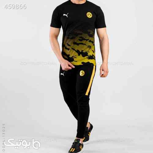 ست تیشرت و شلوار مردانه مدل 13025 زرد 99 2020