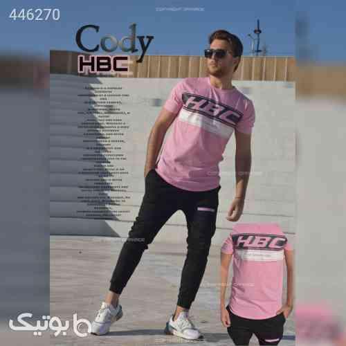 ست تیشرت و شلوار مردانه مدل Cody صورتی 99 2020