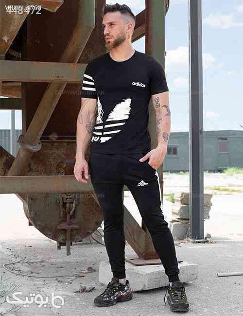 ست تیشرت و شلوار مردانه Adidas مدل S9768 مشکی 99 2020