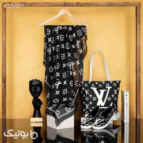 ست روسری +کیف +کفش زنانه لوییس ویتون مشکی 99 2020