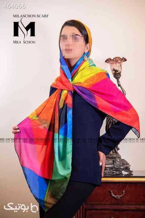روسری حریرکرپ  صورتی 99 2020