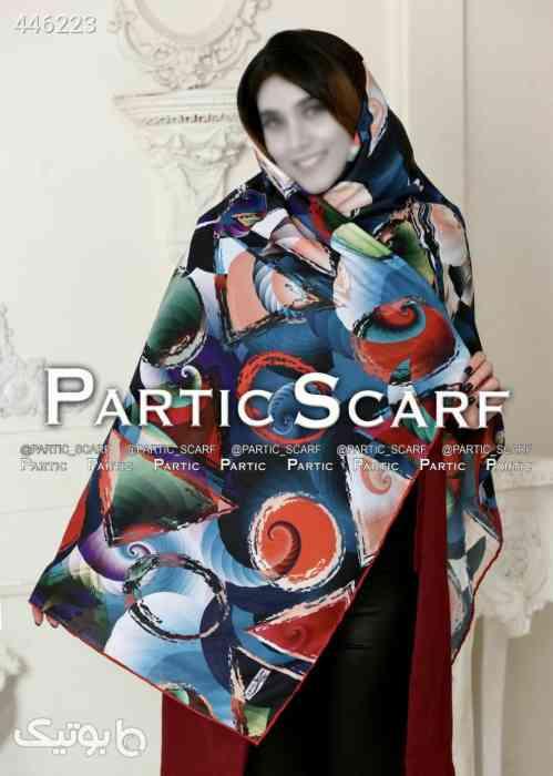 روسری کرپ حریر  آبی 99 2020