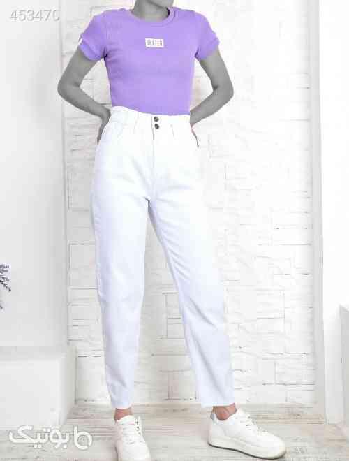 چیندار کمر جین سفید زنانه برند Trend Alaçatı Stili کد 1589267095 سفید 99 2020
