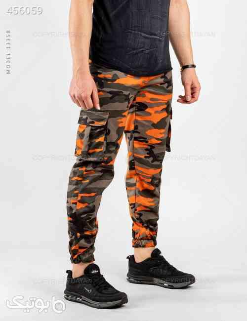 شلوار اسلش مردانه ارتشی مدل 13358 نارنجی 99 2020